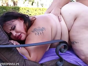 BBW with fat ass Victoria Secret - Oiled Up Secret - amateur hardcore with cumshots outdoors by make an issue of incorporate