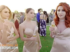 Three bridesmaids nigh wet tight pussies and one horseshit
