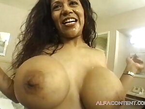 Hot sex with a busty curly Latina