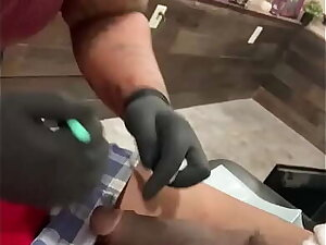 GakTrizzy gets his penis pierced