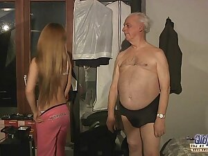 75 aged grandpa sex blessed by Russian hottie blonde