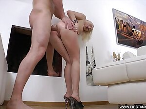 FirstAnalQuest.com - TIGHT ANAL SCENE With reference to A SMOKING HOT Tow-headed TEEN Unfocused