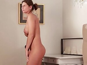 Russian MILF Juliet on touching deep massage together with anal