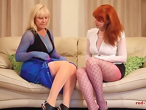 White-hot XXX and her show one's age get pernicious in nylons