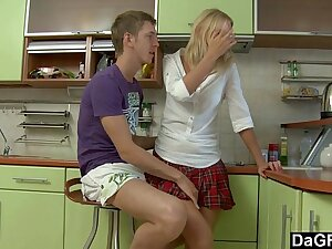 Anal Sex After The Homework In The Kitchen