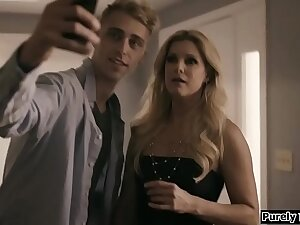 Milf finds out she is tricked into premier with the brush stepson