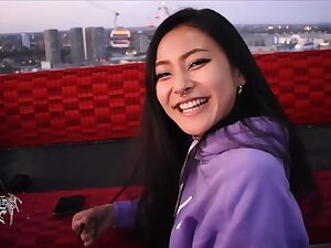Asian lil rae rae b4 she fucked up her face - POV oral sex